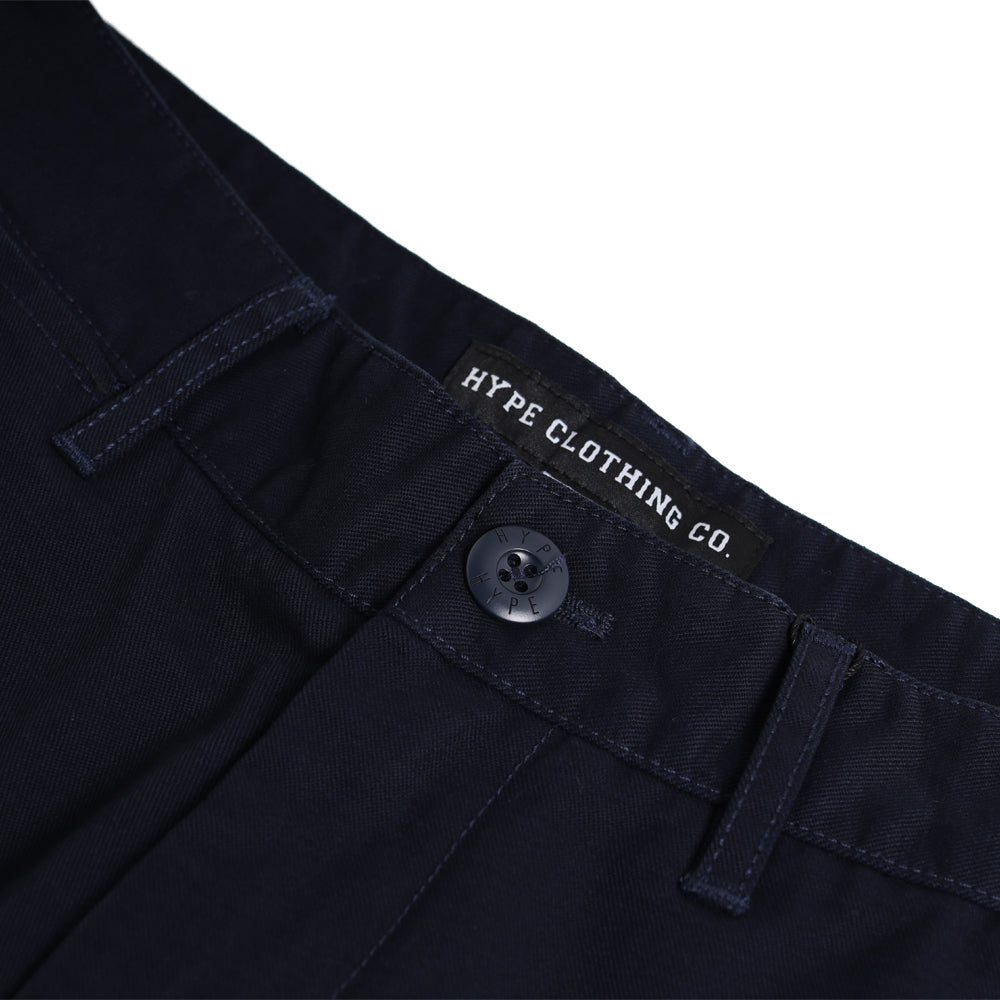 Signature Square Label Chino Shorts | Navy