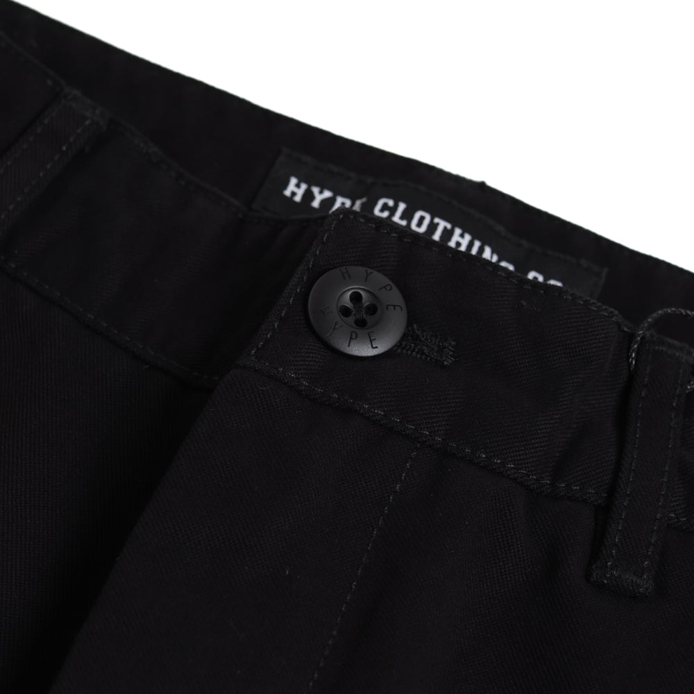 Signature Square Label Chino Shorts | Black