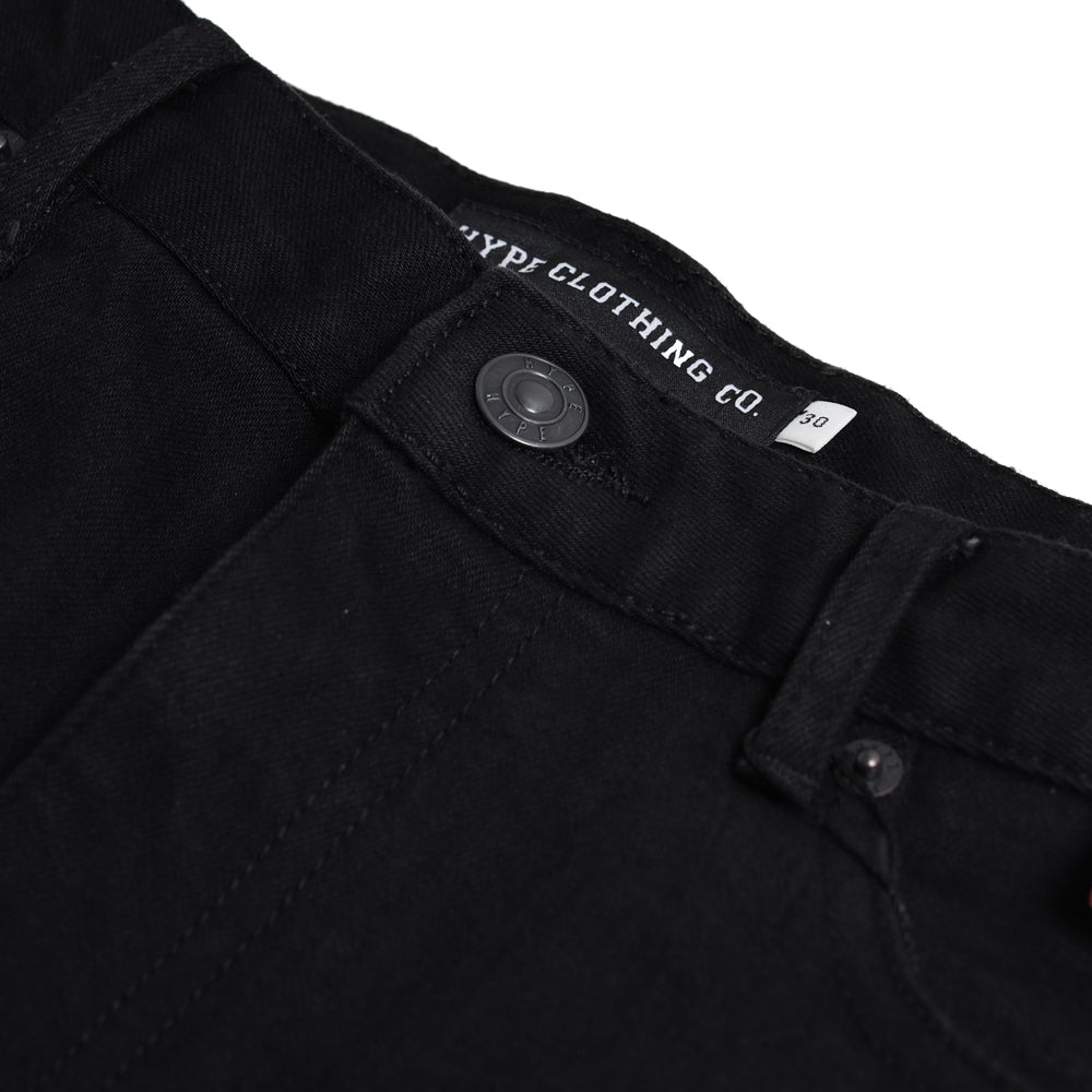 Seasonal Mens Slim Fit Jeans | Black