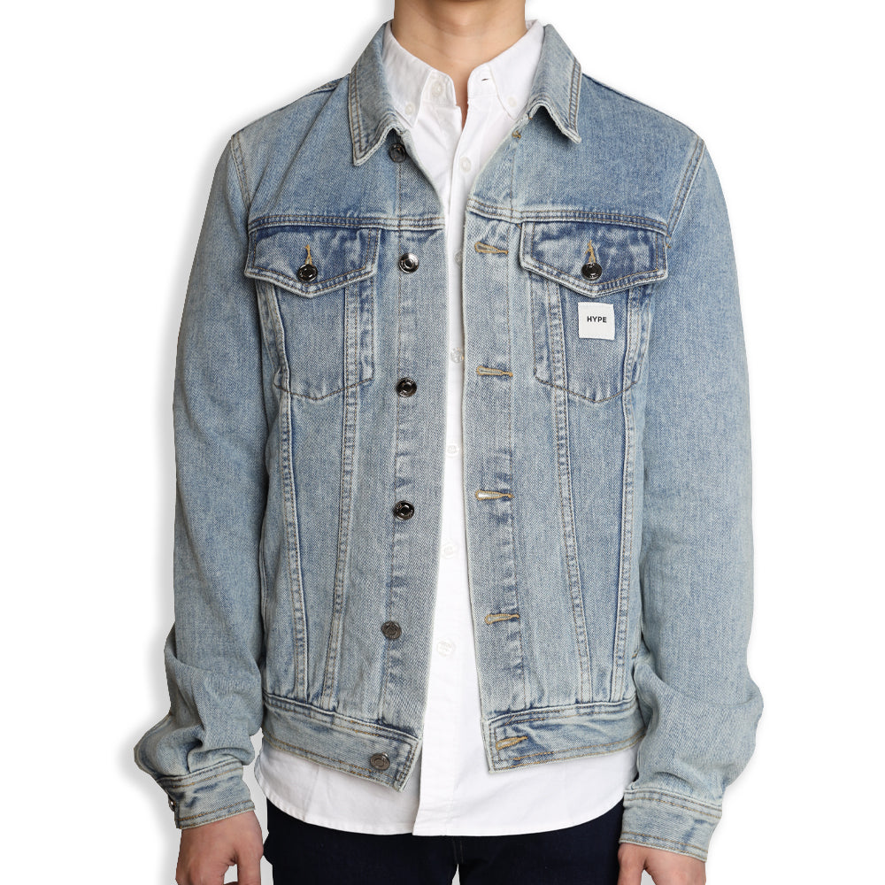 Signature Square Label Denim Jacket | Denim Blue