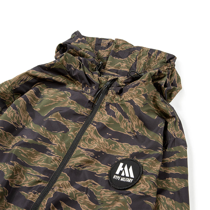 Capsule Military Windbreaker Zip Hoodie | Camo
