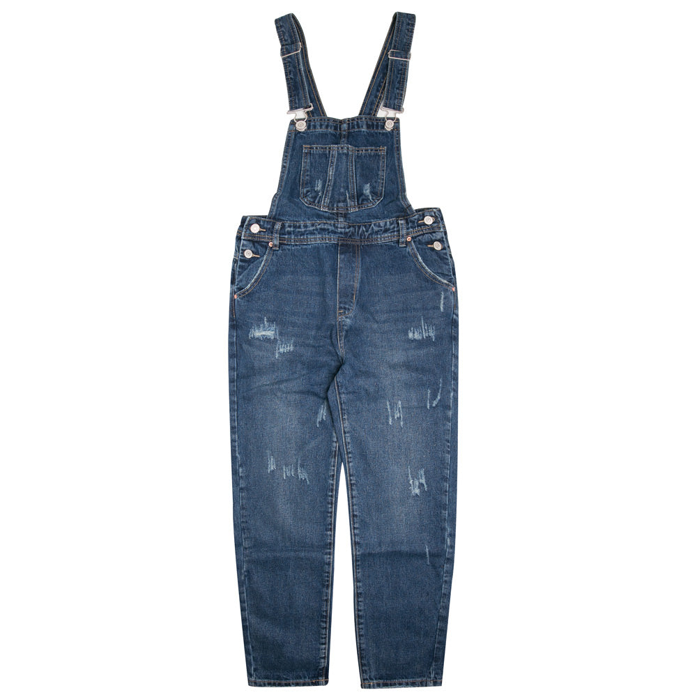 Ladies Denim Overall Pants | Dark Denim