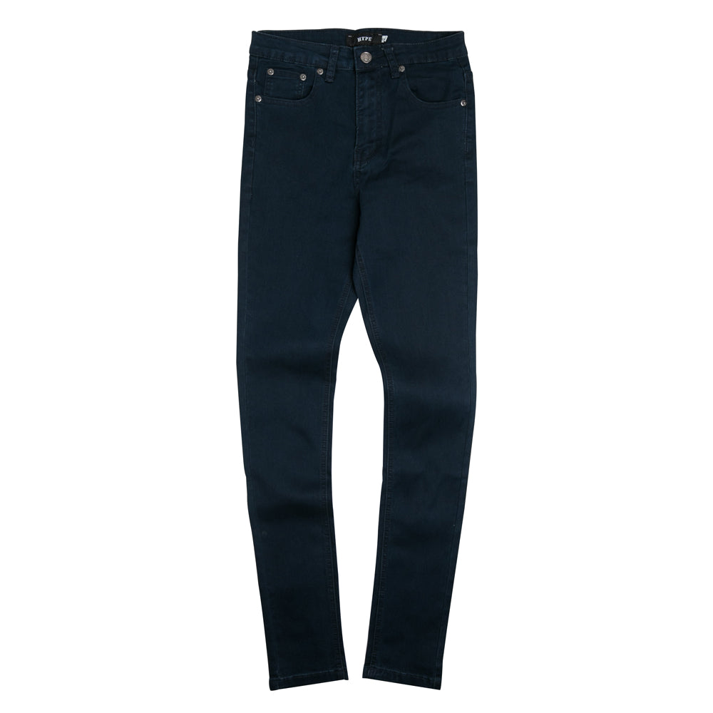 Ladies High Waist Skinny Jeans | Dark Navy