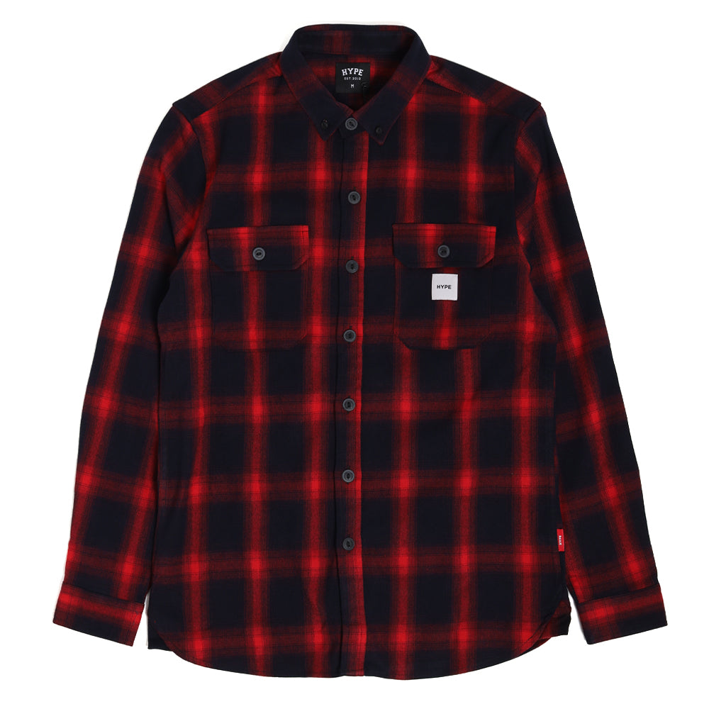 Signature Square Label Checked Long Sleeve Shirt | Red