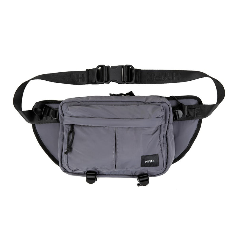 Signature Square Label Waist Pouch Bag | Grey