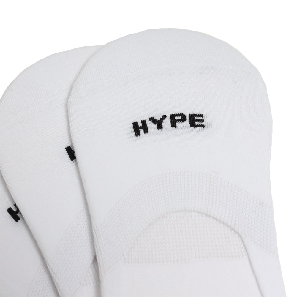3 In 1 Seasonal Invisible Socks Pack | White