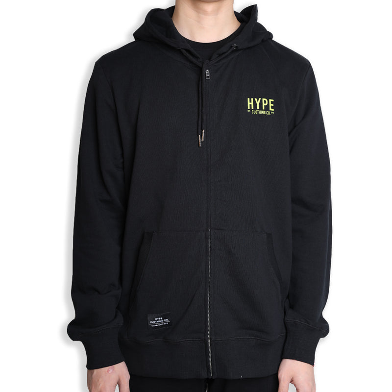 Signature Colonel Zip Hoodie | Black / Neon