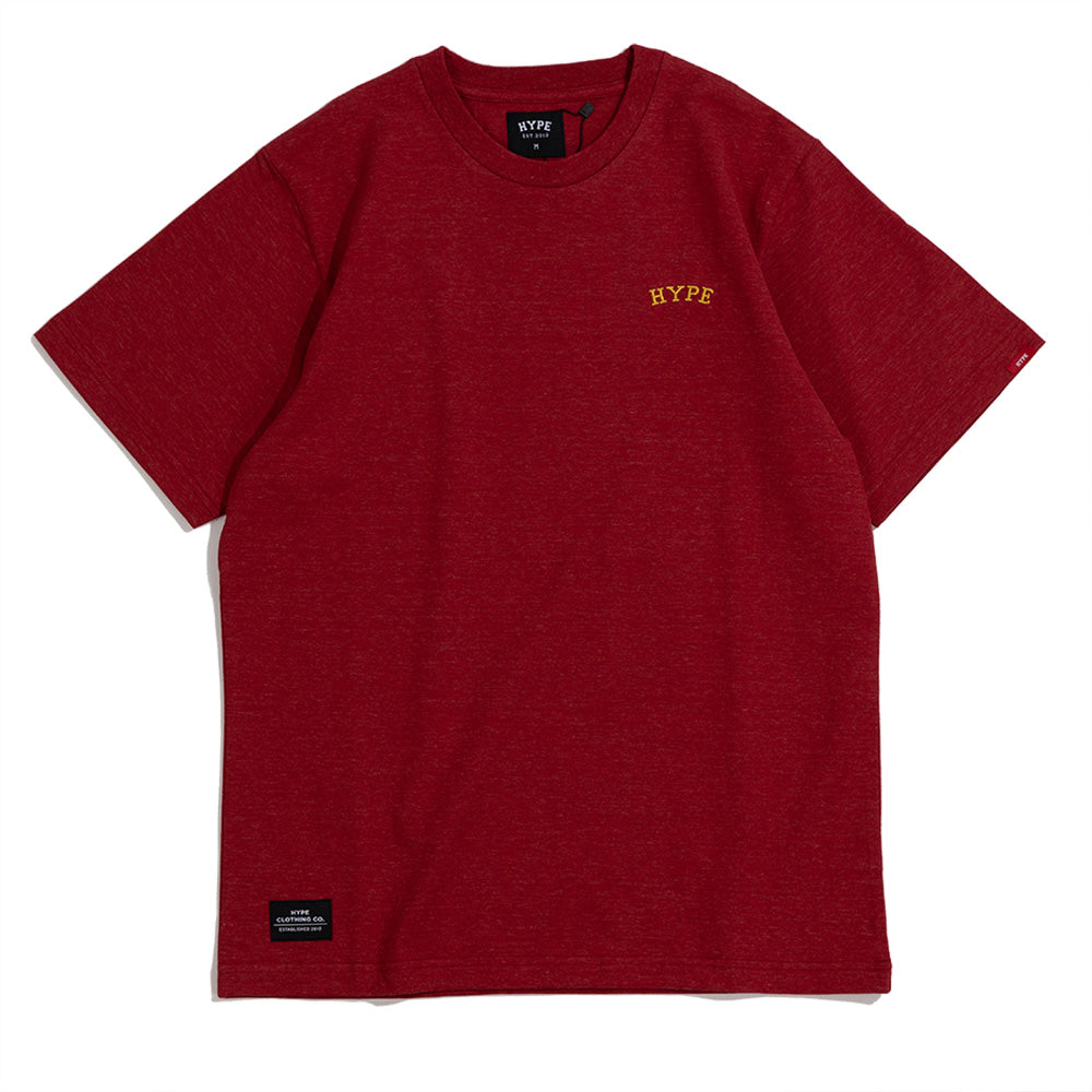 Signature Chief Short Sleeve Tee | Heather Red / Gold