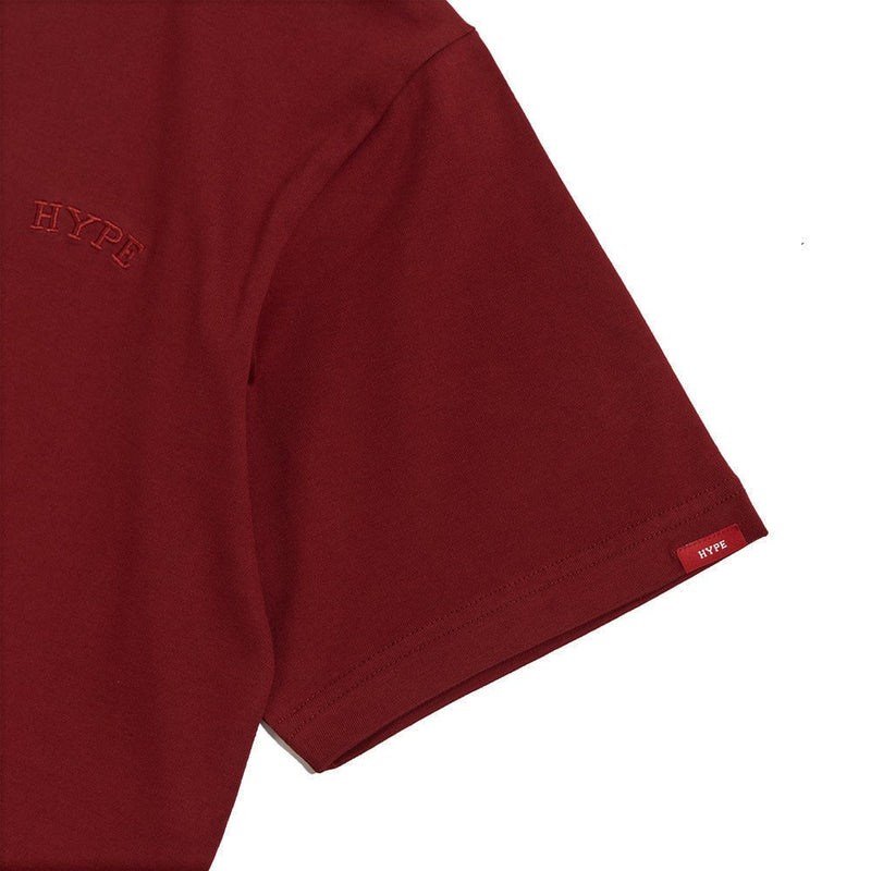 Signature Chief Short Sleeve Tee | Maroon / Maroon