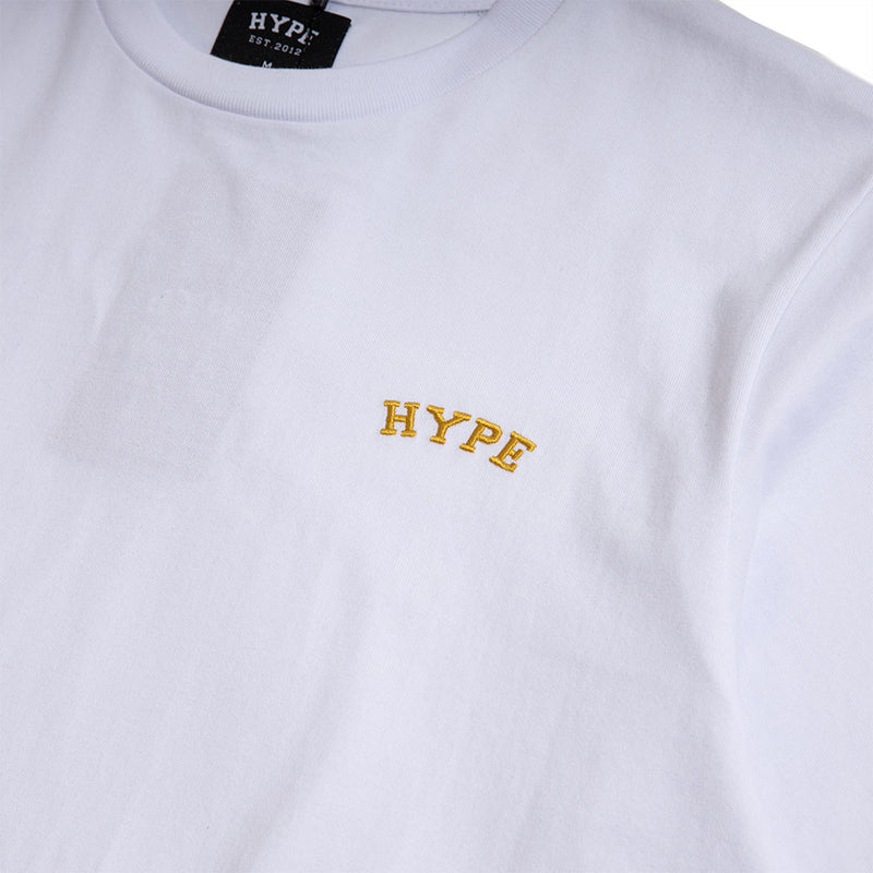 Signature Chief Short Sleeve Tee | White /Gold