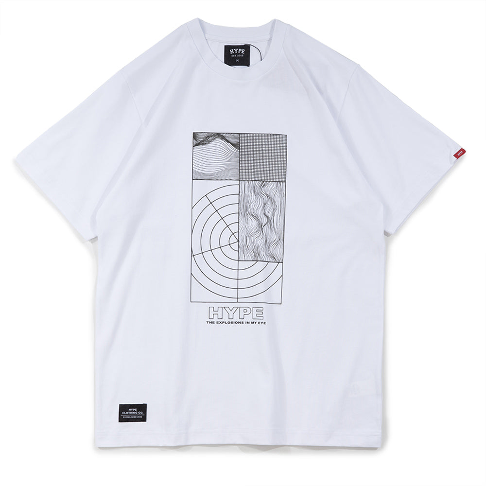 Seasonal Explosion Tee | White/ Black