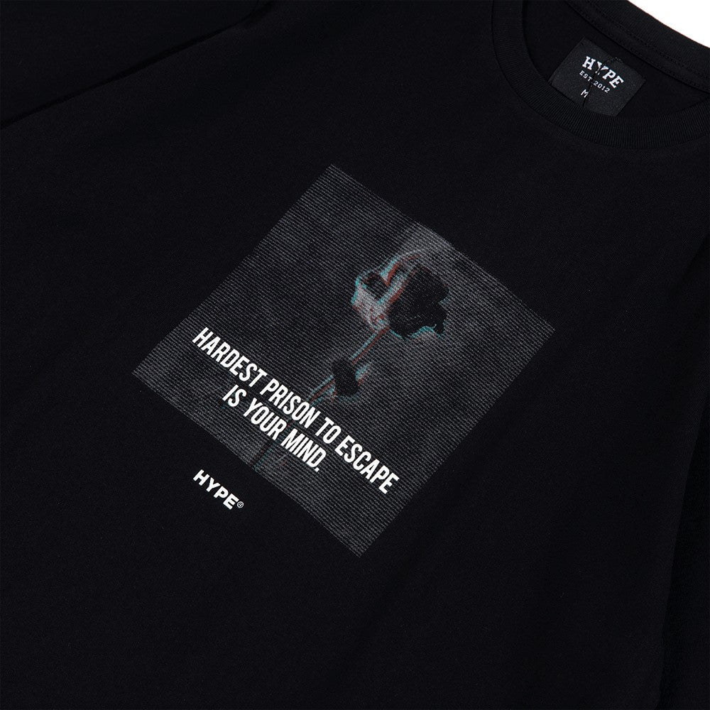 Seasonal Prison Short Sleeve Tee | Black