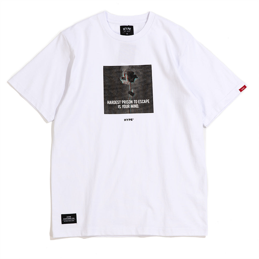 Seasonal Prison Short Sleeve Tee | White