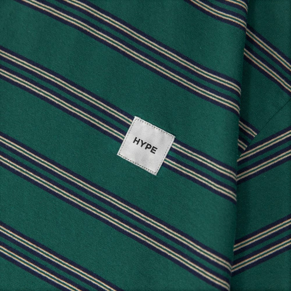 Signature Square Label Stripe Tee | Green