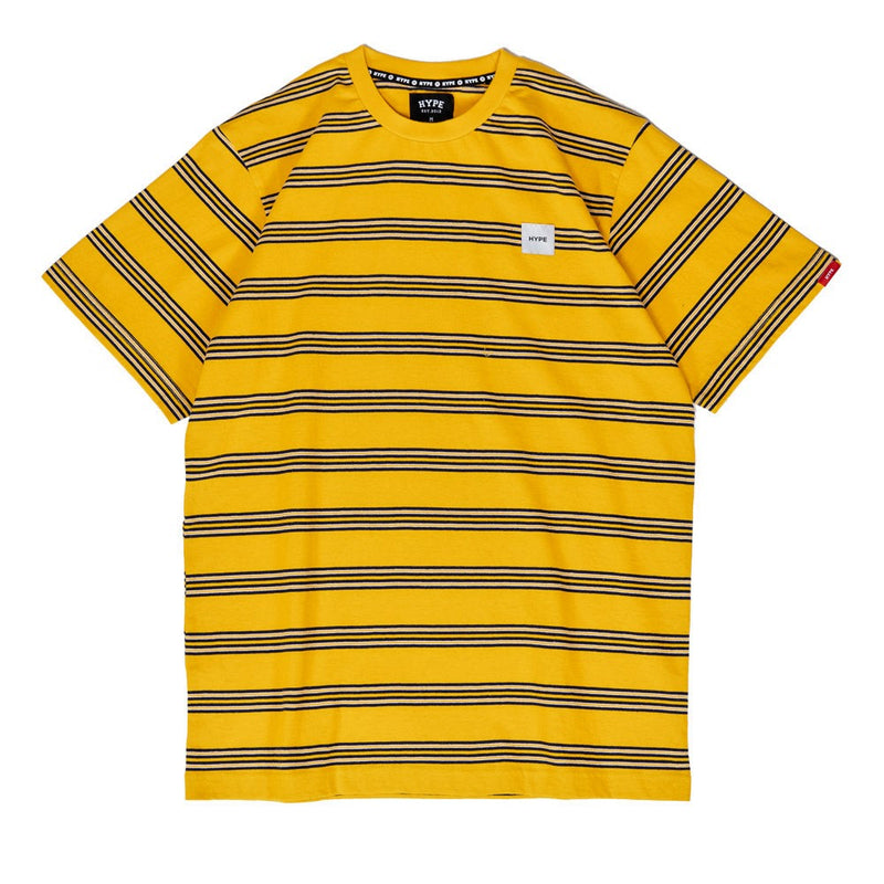 Signature Square Label Stripe Tee | Mustard