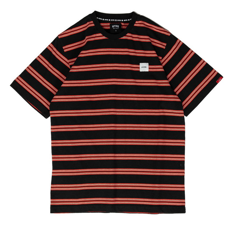 Signature Square Label Stripe Tee | Black