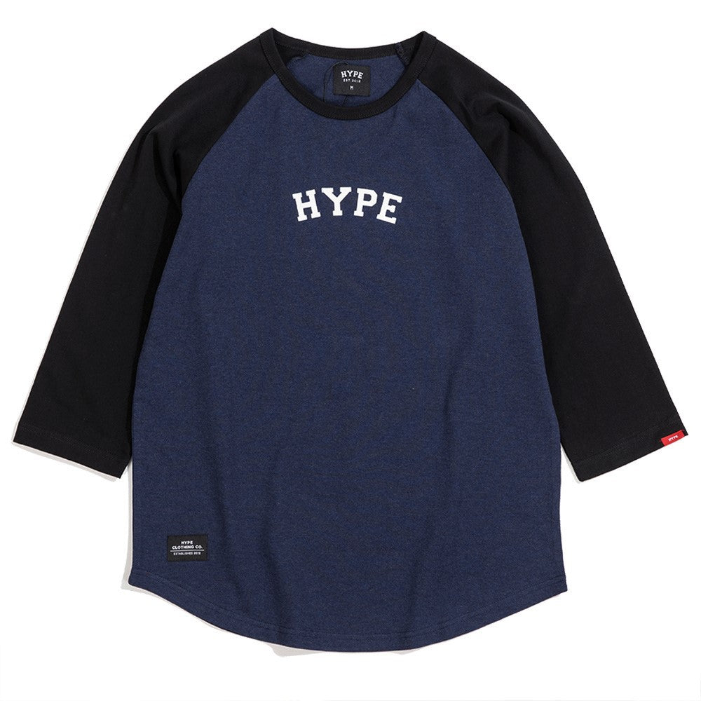 Signature Captain Raglan 3/4 Tee | Navy/ Black