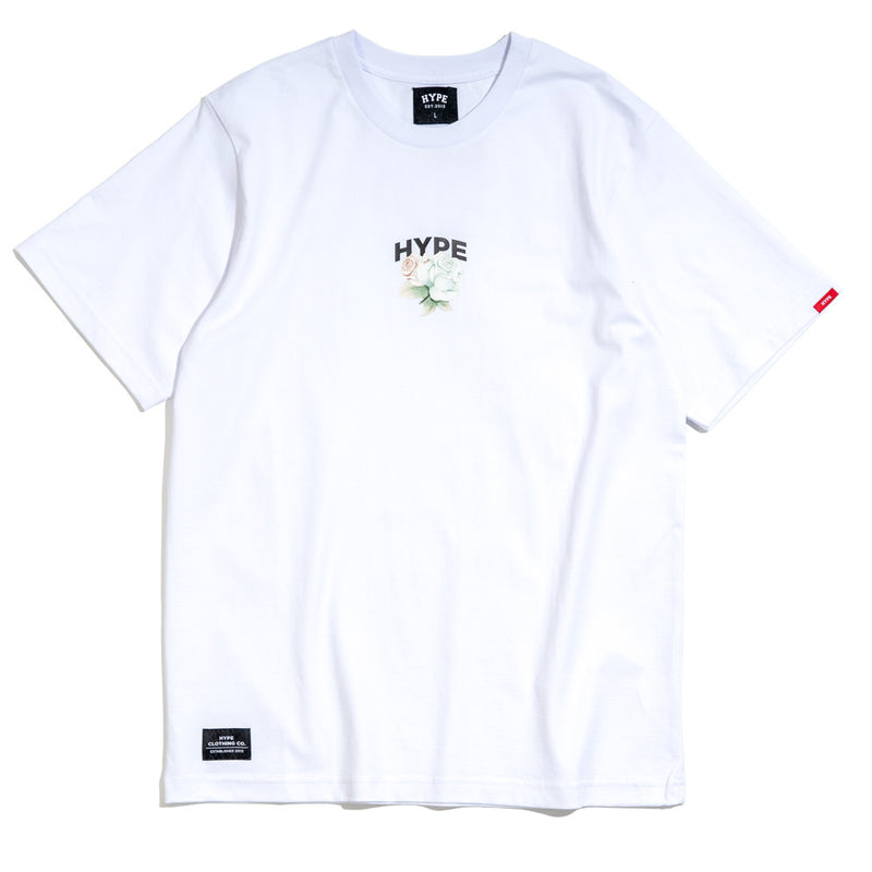 Seasonal Light Floral Bloom Tee | White