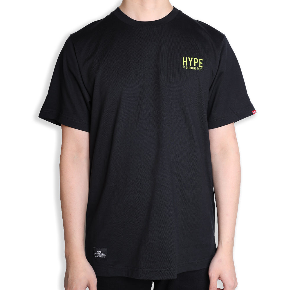 Signature Colonel Short Sleeve Tee | Black / Neon