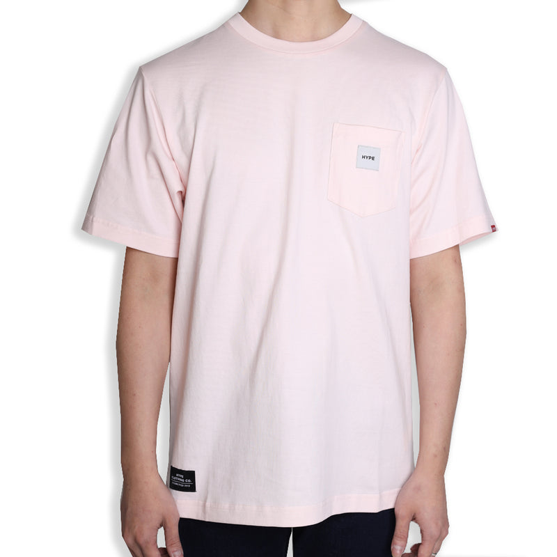 Signature Square Label Pocket Tee | Rose Water
