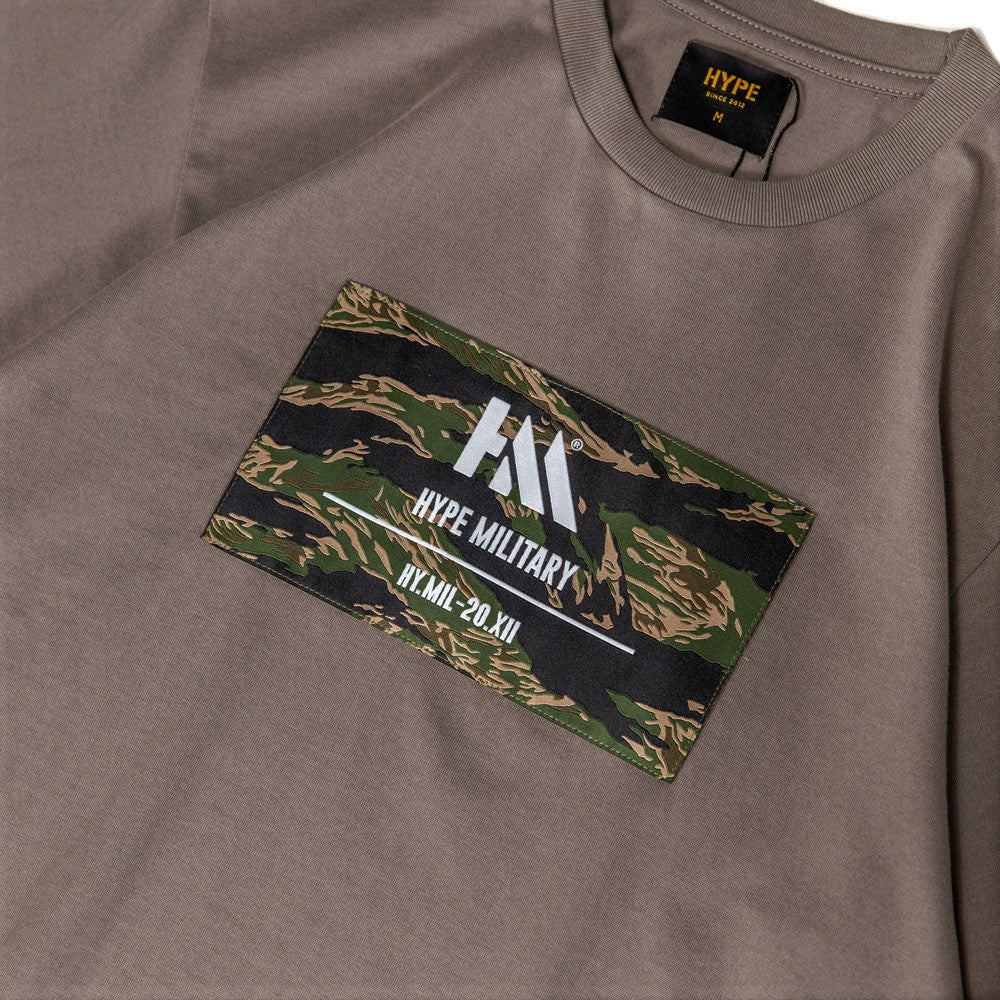 Capsule Military Echo Camo Box Tee | Grey