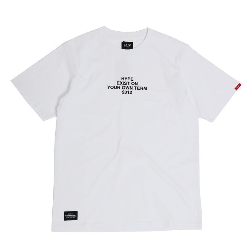 Seasonal Exist Tee | White