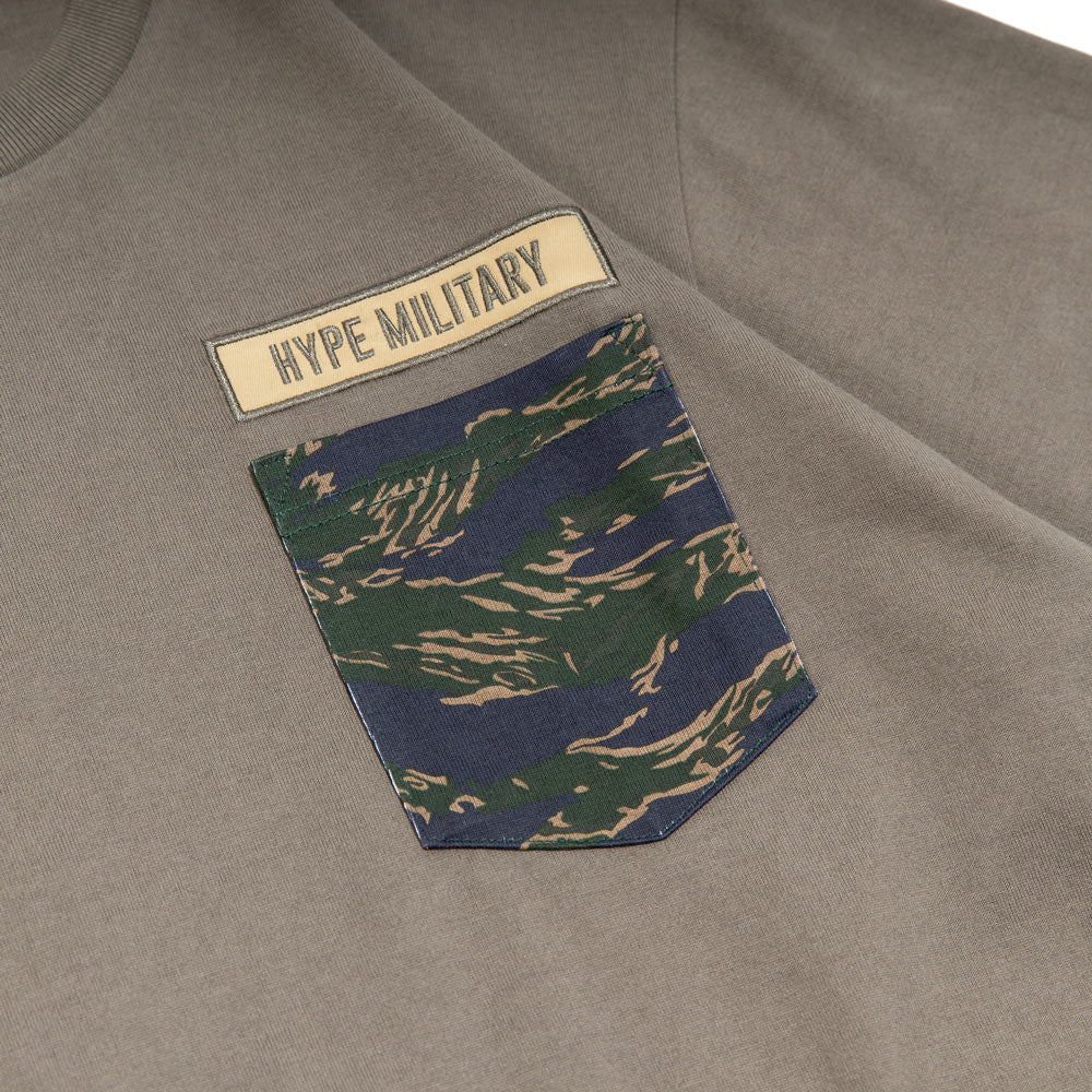 Capsule Military Charlie Pocket Tee | Grey