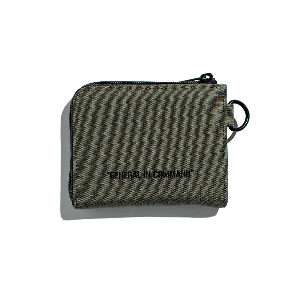 Capsule Military Command Half Zip Wallet | Olive