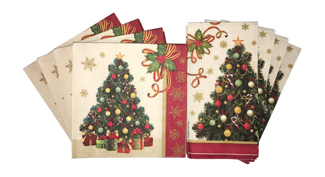... Christmas Tree Holiday Disposable Tableware Set Paper Plates and Napkins Serves 24 Guests with Recipe Card ...  sc 1 st  USPrimeRetail & Christmas Tree Holiday Tableware Set Paper Plates and Napkins ...