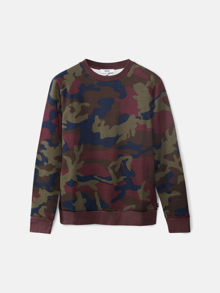 Miles Camo Sweatshirt Red Port