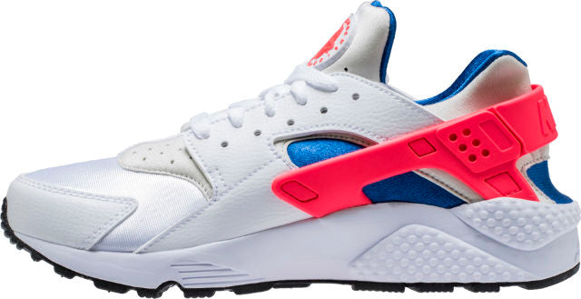 Air Huarache Wht/blue/Solar red