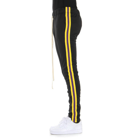 Black/Yellow/Purple-Taped Track Pants