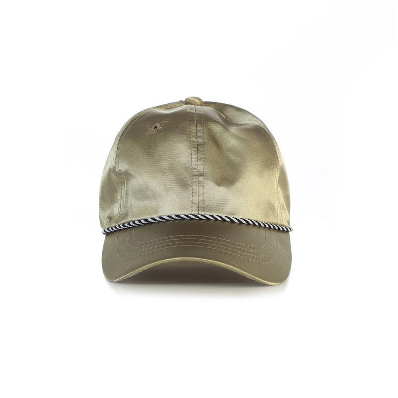 Olive Satin Dad Hat
