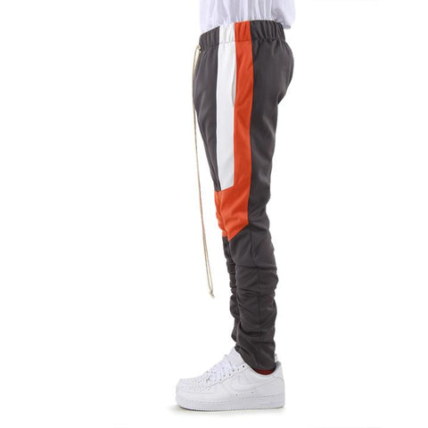 Grey/ Orange Color Block Track Pant 2.0
