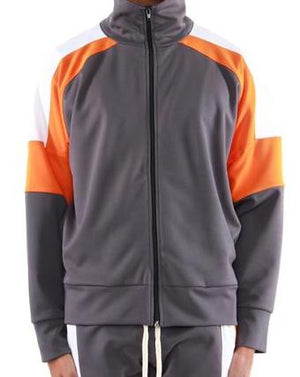 Grey/ Orange Color Block Track Jacket 2.0