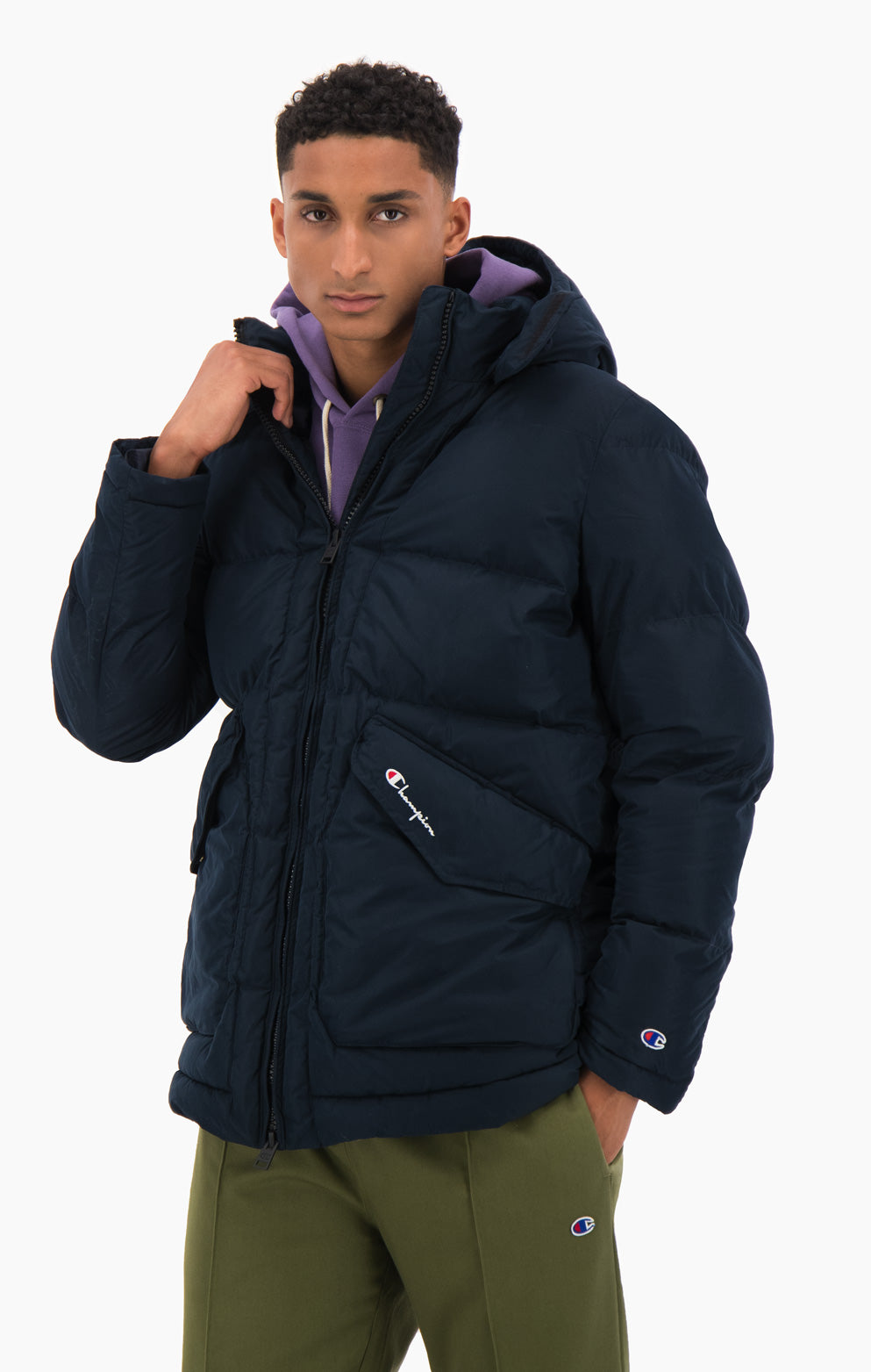 Detachable Hood Puffer Coat