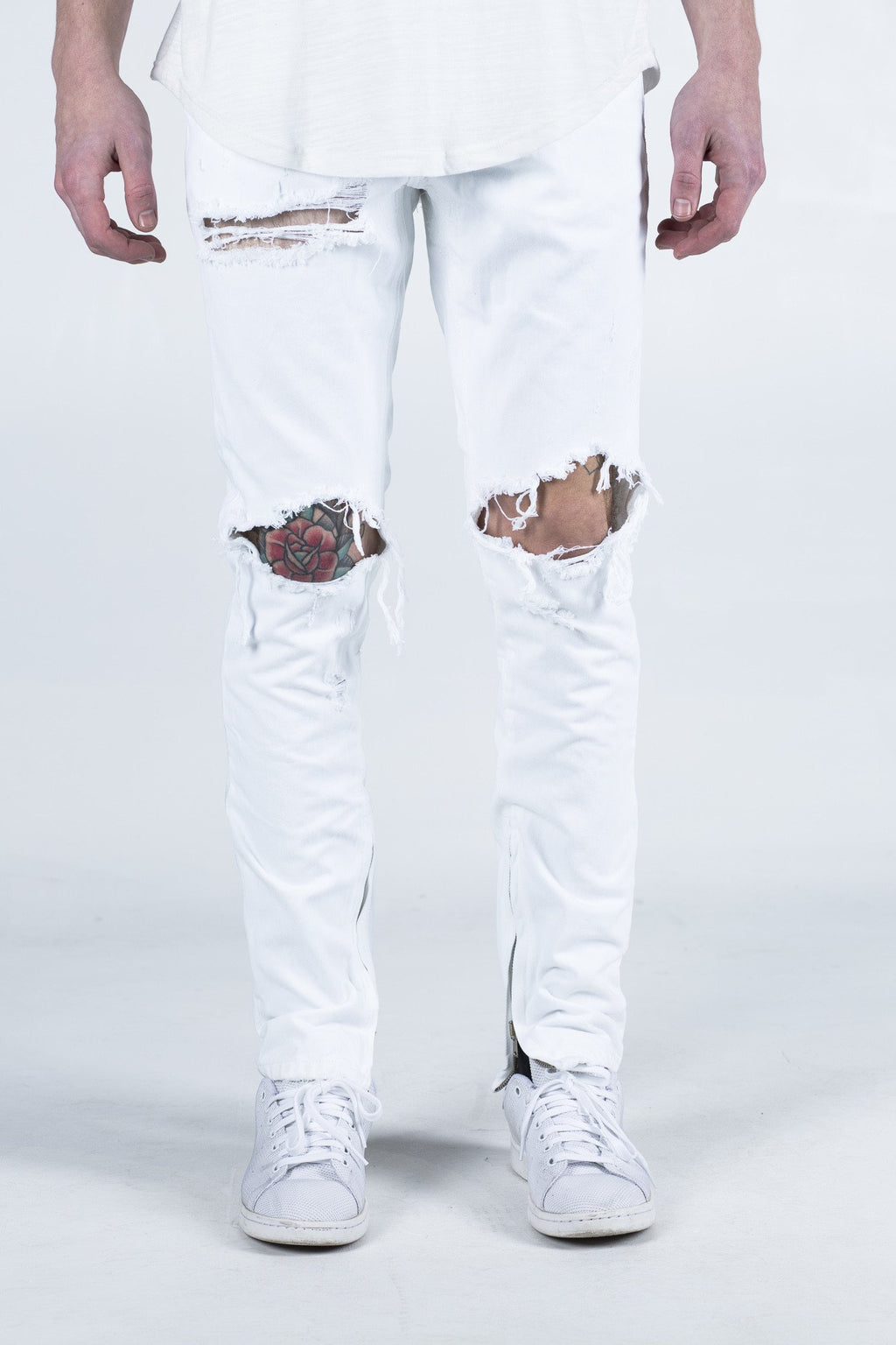 Pacific Denim - White Ripped