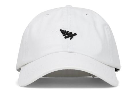 Plane Icon Dad Hat White