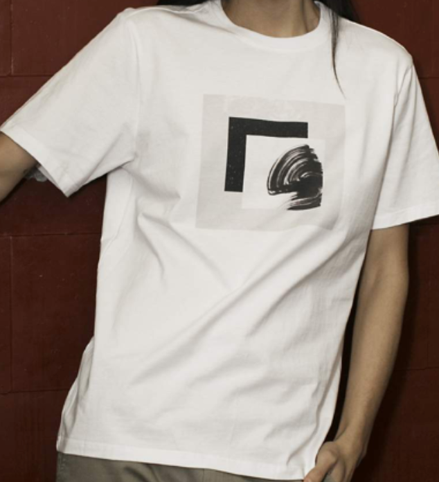 """Forms"" Tee In White"