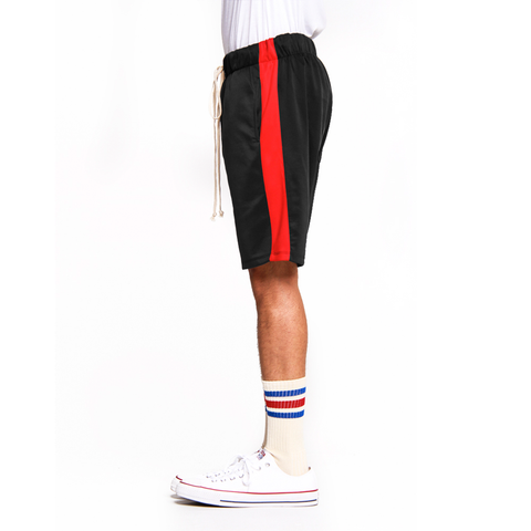 Black/Red-Track Shorts