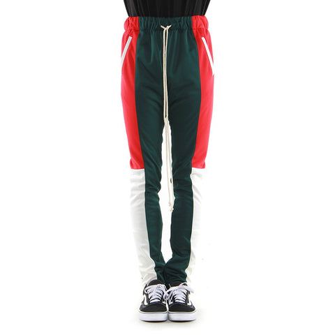 Hunter Green/Red/Off White Color-block 3.0 Track Pant