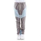 Grey/Sky Blue-Engineered Color Block Track Pant