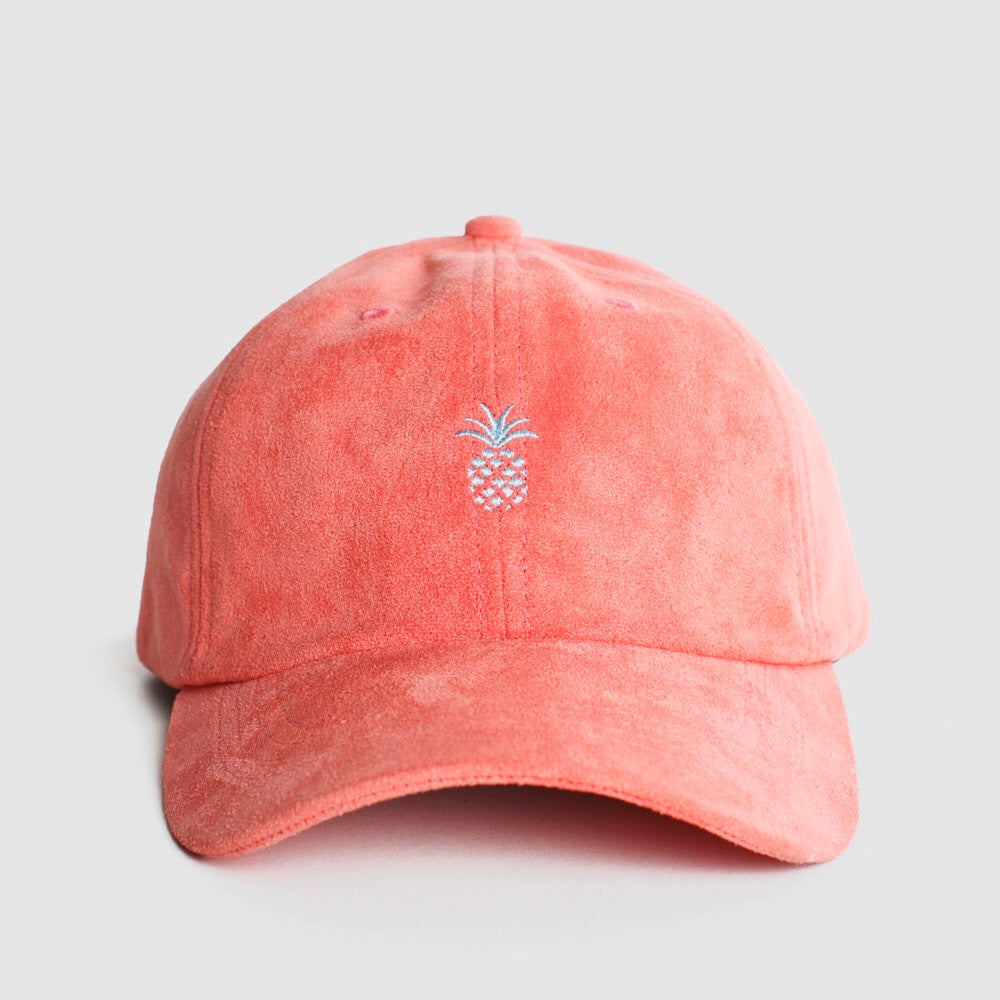 Pineapple MicroSuede Cap in Watermelon
