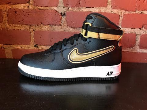 Air Force 1 High Black Metallic Gold