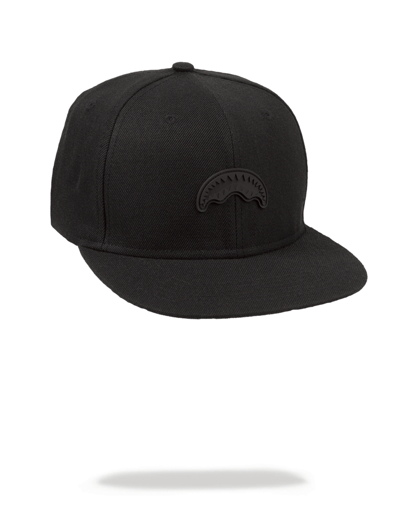 Black Rubber Shark Snapback