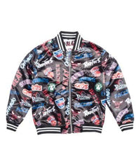 All Over Reversible East/West Satin Jacket