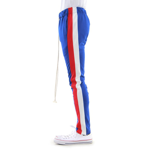 Blue/Red/Off White-Double Stripe Track Pant