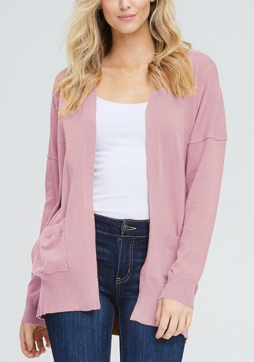 Blush Pocket Cardigan