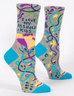 I love my Asshole Kids crew socks