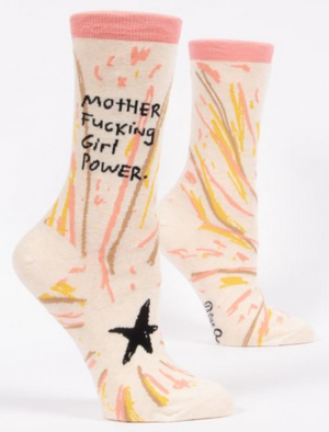Mother Fking Girl Power crew socks